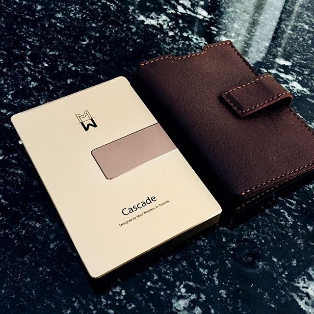cascade wallet and leather cover