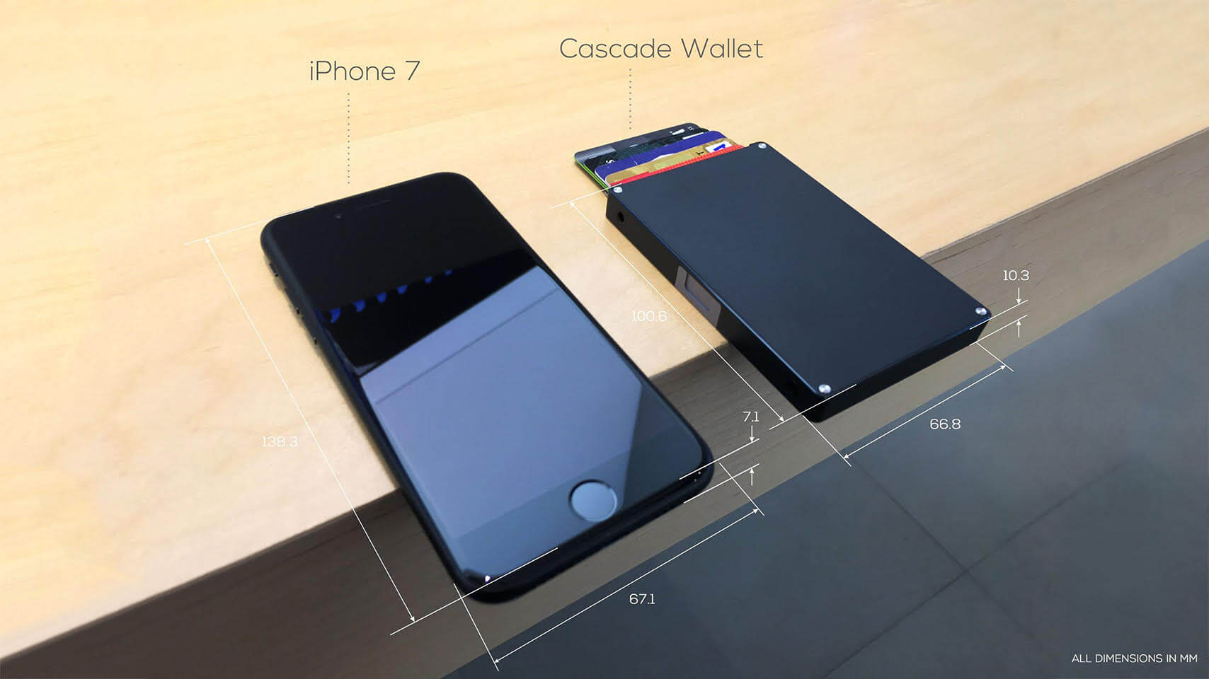 cascade wallet smartphone